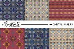 Dark Cross Stitch Seamless Pattern Product Image 1