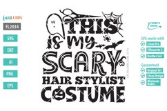 This is My Scary Hair Stylist Costume SVG Cut File Product Image 2