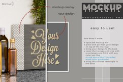 Instant mock up Wood Sign Kitchen Cutting Board Product Image 3