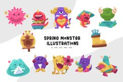 Spring Monster Illustrations Product Image 1