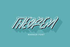 Theorem | Marker Font Product Image 1
