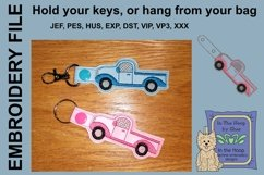 ITH Truck Key Fob - Embroidery Design Product Image 1