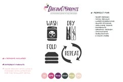 Set of 4 Laundry Signs SVG | Wash, Dry, Fold, Repeat Product Image 2