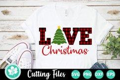 Plaid Love Christmas Tree - A Christmas SVG Cut File Product Image 1