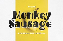 Monkey Sausage! Funny Font Product Image 1