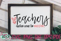 Teachers Another Name For Rockstars - A Teacher SVG Product Image 1