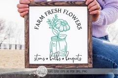 Farm Fresh Flowers SVG | Farmhouse Spring Sign Design Product Image 1