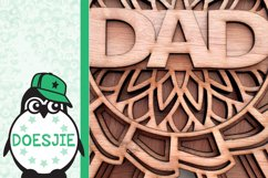 Best dad award fathers day layered mandala svg 3D 5 layers Product Image 6