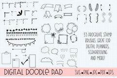 Procreate Stamp Brushes Journaling, Scrapbooking, Doodling Product Image 1