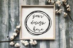 Cute Fall Farmhouse Wood Sign Mockup Product Image 1