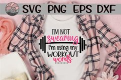 Not Swearing - Using My Workout Words - SVG PNG EPS DXF Product Image 1