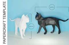 PDF TEMPLATE OF CAT PAPERCRAFT / 3D PAPERCRAFT LOWPOLY Product Image 3