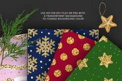 Christmas Glitter Seamless Pattens. Product Image 5