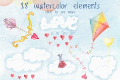 Romantic watercolor set. Love is in the air Product Image 2
