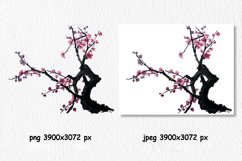 Chinese painting of plum mei Product Image 2