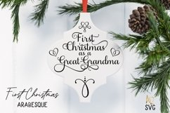 Arabesque Tile First Christmas As A Grandma Nanny Product Image 4