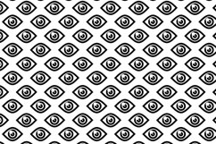 5 Seamless patterns set with different eyes Product Image 6