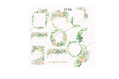 Watercolor white peach flower clip art Product Image 2