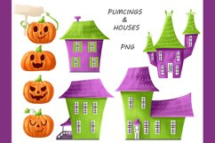 Halloween CLIPART, Fall clipart, Pumpkin clipart, PNG files Product Image 2
