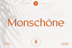 Monschone Luxury Font Product Image 1