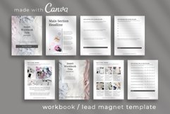 Workbook / Opt-in Lead Magnet Canva Template   Silver Product Image 1