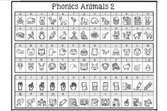Phonics Fonts Bundle - 8 Clip Art Fonts Product Image 2