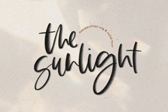 The Sunlight - A Handwritten SVG Script Font Product Image 1