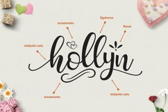 Hollyn Script with Ornaments Font Product Image 2