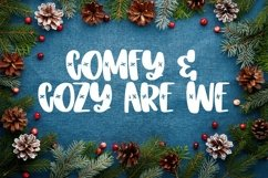 Web Font SNOWDAY - A Snowflake font Product Image 6