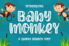 Baby Monkey - a Quirky Bouncy Font Product Image 1