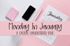 Web Font Monday In January - A Casual Hand-Lettered Font Product Image 1