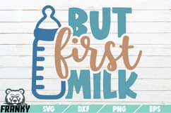 But first milk SVG | Printable Cut file Product Image 1