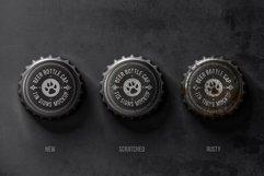 Bottle Cap Metal Tin Signs Mockup Product Image 2