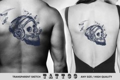 Human skull tattoo Product Image 5