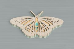 Insect laser cut file - Butterfly Mandala Product Image 3