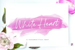 White Heart Font Product Image 1