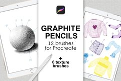Graphite pencils and textured Procreate brushes Product Image 1