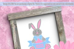 Happy Easter Bunny SVG DXF Cut File LL178D Product Image 2