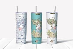 Skinny tumbler Png. Cute mermaid clipart sublimation Png Svg Product Image 3