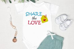 Quote Share the love Sublimation design png Product Image 3