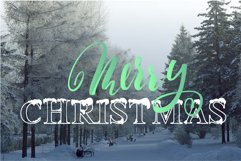 Christmas snowy display font Product Image 4