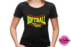 Softball Nana - SVG, DXF, EPS Cut Files Product Image 2