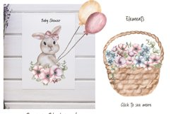 Watercolor Cute Bunny Collection Product Image 2