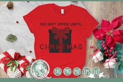 SVG   Do Not Open Until Christmas Product Image 1