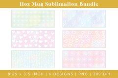 11oz Mug Sublimation bundle designs with white heart and floral illustrations