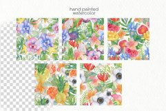 Watercolor Tropics. Seamless Patterns Product Image 2