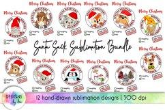 Santa Sack Bundle of 12 Designs | Christmas Gift Bag Print Product Image 1