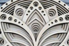 Layered Mandala SVG, Laser cut file Mandala, 3D Lotus Product Image 4