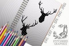 Stag Heads Bundle SVG, Silhouette Studio, Cricut, Eps, JPEG Product Image 1