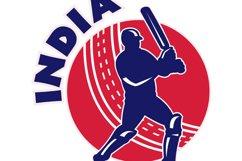 cricket sports batsman batting India Product Image 1